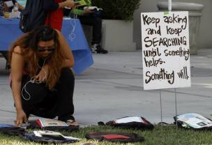 Send Silence Packing displayed 1,100 backpacks that represented a student who was a victim of suicide and each backpack had the story of the victim. (Luis Solis / Asst. Photo Editor)