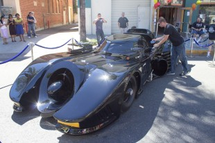 The Batmobile was a crowd favorite at the Fireball Run. (Luis Solis|Asst. Photo Editor)