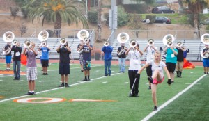 Practice Makes Perfect: RCC Marching Tigers pull through another field practice. Photo by Luis Solis | Photo Editor