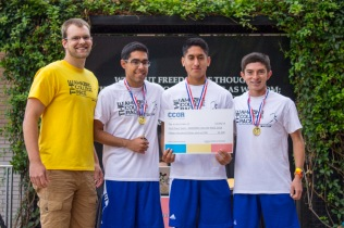 The team known as the Three Aminogs from UCR won first place. It is the third year a UCR team won the event. (Photo by Luis Solis)