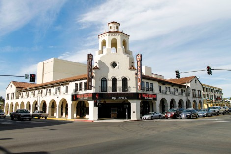 Historic Facade: The Fox Performing Arts Center is located at the corner Market Avenue and Mission Inn.