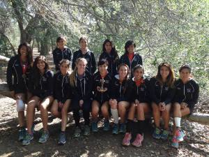 CROSS-COUNTRY: The Riverside City College women's cross-country pose after the Howard Brubaker Invitatioal held at Irvine Regional Park on Oct. 10.