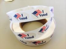 """""""I Voted"""" sticker - (Photo courtesy of Ofelia Noriega)"""