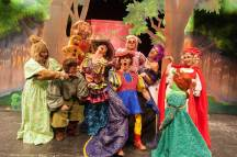 "Sing Along: Cast of ""Shrek"" the musical break into song as the fairtytale creatures figure out the identitiy of Lord Farquaad's father.   IMAGE COURTESY of Todd Cole"