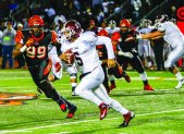 PAYBACK: Mt. SAC quarterback Justin Alo did not throw an interception against the RCC defense in the SCFA title game, after throwing four in the regular season meeting on Oct. 25. (Luis Solis | Photo Editor)