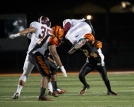 UP IN THE AIR: RCC's defensive back Ray Ford gives his all to stop Mt. SAC from advancing on the field at the state semifinals held at RCC on Nov. 29, 2014. (Michael Walter | Asst. Photo Editor)