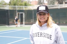 Riverside City College womens tennis coach Nikki Bonzoumet has ben coaching the Tigers for 17 years. Before her time at RCC, Bonzoumet worked at a country club and was an assistant coach at California State University San Bernardino. Bonzoumet led the Tigers all season to finish off with an outstanding record of 17-3 and first place in conference. On top of her hard work with the women, Bonzoumet had to take on the task of serving as the interim mens head coach while Jim Elton was out with a head injury. Bonzoumet is constantly recruiting for next season.