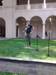 Fabian Hinajosa, GSA Vice President relates his experiences at the GSA Rally in the Quadrangle May26. Crystal Olmedo | Viewpoints