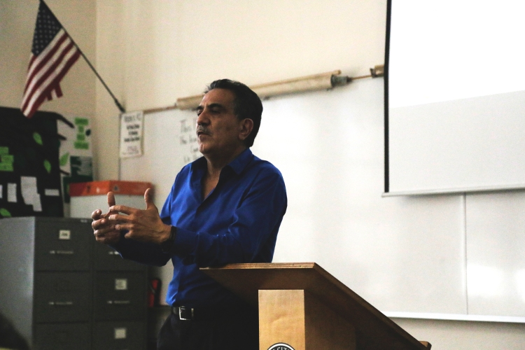 Dariush Haghighat gives a lecture on the Iranian nuclear deal Sept. 24 1:50-2:20 p.m. in Quad 215. Alexis Naucler | Viewpoints