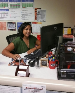 Photo courtesy of RCC Counseling Department Counselor and Career Center Coordinator Monique Greene sit at her desk in the counseling center. The career center had not had a coordinator for over five years, according to Greene.