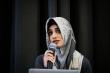 Aarefah Mosavi speaks to Riverside City College students (Andrew Brady | Viewpoints)
