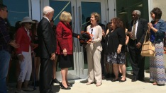 Marie Kane, the widow of Charles, and Riverside Community College District Board of Trustees President Virginia Blumenthal cut the ribbon at the official ceremony before opening the doors to the public. (James H. Williams | Viewpoints)