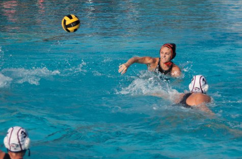 Attacker Mary Myers hurls the ball to score against American River College.