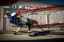 Henry Schmel's hand built plane named, Salute to America, proudly on display at the Riverside Airshow on April 1.